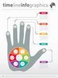 Une partie du rapport avec la main humaine et d'icônes réglées conce d'affaires Images libres de droits