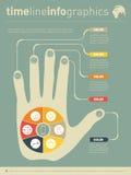Une partie du rapport avec la main humaine et d'icônes réglées conce d'affaires Image stock