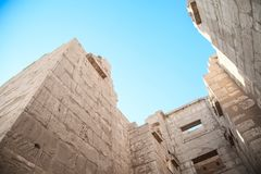 Une partie du temple dans la ville des morts à Louxor Photographie stock