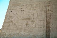 Une partie du temple dans la ville des morts en Egypte Photo libre de droits