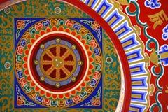 Une peinture chinoise colorée sur le plafond au Image libre de droits