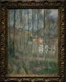 Une peinture par Camille Pissarro dans le National Gallery à Londres image stock