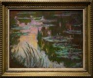 Une peinture par Claude Monet dans le National Gallery à Londres image libre de droits