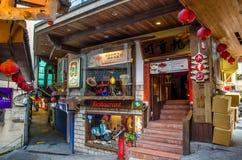 Une pension qui est située dans la vieille rue de Jiufen, Taïwan Images stock