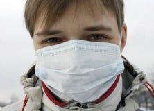 Une personne dans un masque images libres de droits
