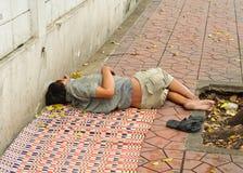 Une personne sans foyer Photo libre de droits