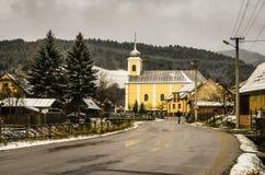 Une petite église de village Images stock