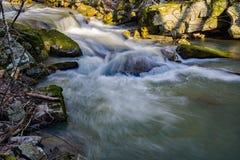 Une petite cascade dans les montagnes de la Virginie, Etats-Unis photo libre de droits