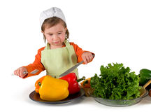 Une petite cuisson de petite fille Images libres de droits