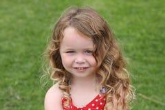 Une petite fille mignonne Image stock
