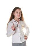 Une petite fille posant avec des spestacles Photos libres de droits