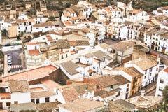 Une petite vieille ville espagnole La vue à partir du dessus Image stock