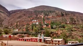 Une petite ville de Tarma photos stock