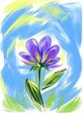 Une photo d'un fond de bleu d'indigo de fleur photographie stock