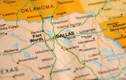 Une photo de Dallas sur une carte photos stock
