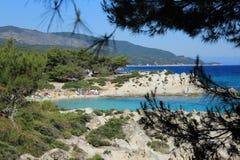 Une photo de la belle péninsule de Sithonia images libres de droits