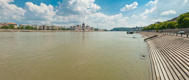 Le Danube à Budapest Photo stock