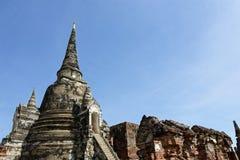 Une photo du temple principal et sous de Wat Phra Si Sanphet Images libres de droits