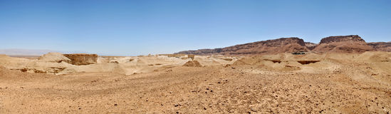 Une photo panoramique de région de Masada Photographie stock libre de droits
