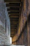 Une pièce de couloir d'une vieilles citadelle/forteresse Image libre de droits
