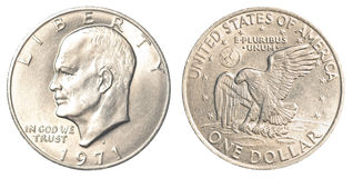 Une pièce de monnaie américaine du dollar Photographie stock