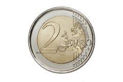 Une pièce de monnaie de deux euro Photos stock