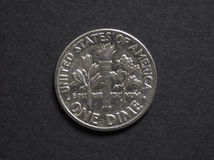 Une pièce de monnaie de dixième de dollar Photographie stock