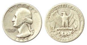 Une pièce de monnaie de dixième de dollar des Etats-Unis de 1946 Image stock