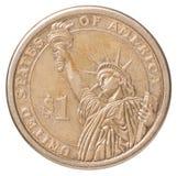 Une pièce de monnaie de dollar US Photos stock
