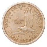 Une pièce de monnaie de dollar US Photo stock