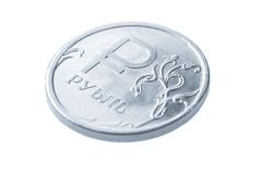 Une pièce de monnaie de rouble russe Images stock