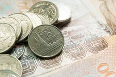 Une pièce de monnaie thaïlandaise de baht Image libre de droits