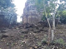 Une pièce de vieux temple photos stock