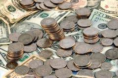 Une pile d'argent Photographie stock libre de droits