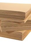 Une pile d'en carton ondulé Image stock