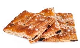 Une pile de biscuits ou de biscuits de beurre d'isolement sur un blanc Photo libre de droits