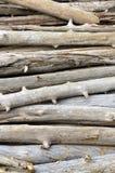 Une pile de bois de flottage Photo stock