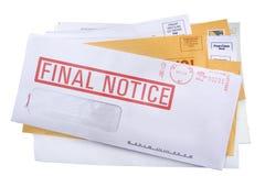 Une pile de courrier de /junk de factures Images stock