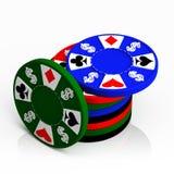Une pile de jetons de poker de casino Image stock