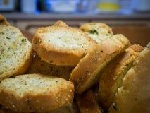Une pile de mini pains grillés Images libres de droits