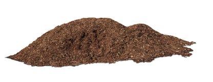 Une pile de paillis d'écorce d'arbre Image stock