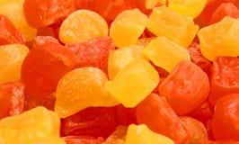 Une pile de sucrerie de sucre colorée de sucre blanc Image libre de droits