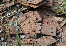 Une pile de vieilles pièces rouillées Photos libres de droits