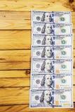 Une pile des billets de banque des USA avec des portraits de président Argent liquide des billets d'un dollar, fond d'image du do Photos stock