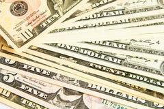 Une pile des dollars Image stock