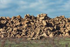 Une pile des fragments de roche photographie stock libre de droits