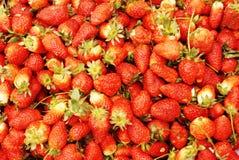 Une pile des fraises Photo stock