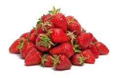 Une pile des fraises fraîches Photos stock