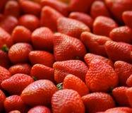 Une pile des fraises red delicious Photographie stock libre de droits