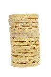 Une pile des gâteaux de riz Image libre de droits